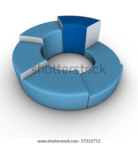 business diagram - stock photo