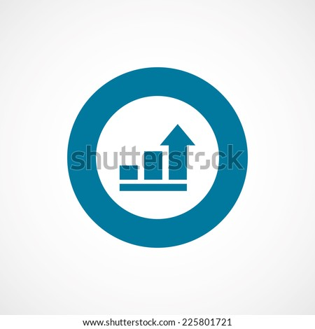 business diagram, chart bold blue border circle icon, isolated on white background