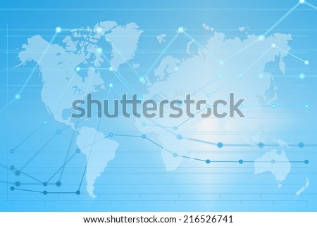 Business diagram graph chart on abstract background
