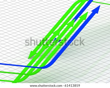 business diagram showing earnings from partnership firm - stock photo