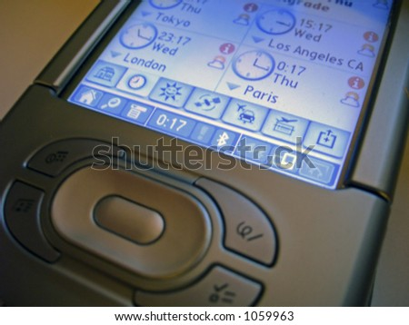 business digital communication device with modern and slick design - stock photo