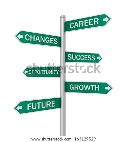 Business direction signs  - stock photo