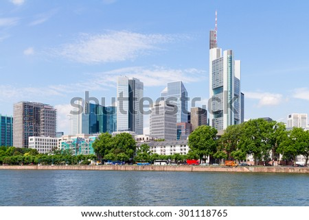 Business District in Frankfurt, Germany - stock photo