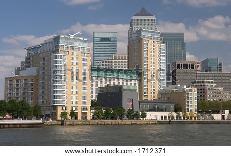 Business District of London, UK
