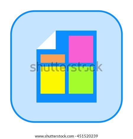 Business document icon - stock photo