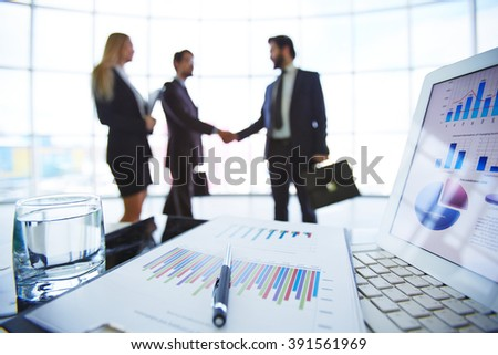 Business documents - stock photo