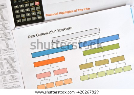 Business documents at workplace - stock photo