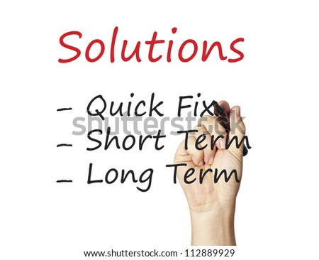 Business drawing for solution - stock photo