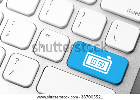Business & e-commerce icon on computer keyboard button