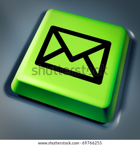 business e-mail on computer laptop technology symbol mail texting communications social friends information networking green