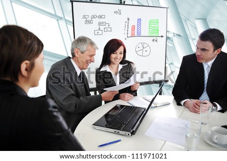 Business economic meeting - stock photo