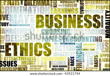 Business Ethics in the Workplace Office Level - stock photo