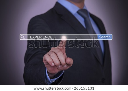 Business Experience Search button - stock photo