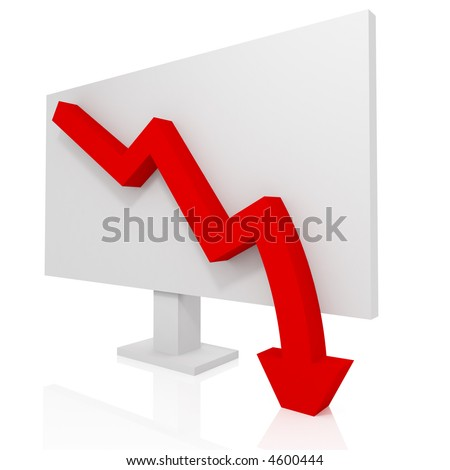 Business failure - stock photo