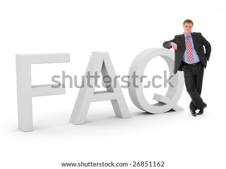 Business FAQ - stock photo
