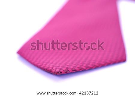 business fashion isolated new necktieon white background - stock photo