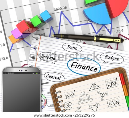 Business finance, accounting, analysis graphs as concept - stock photo