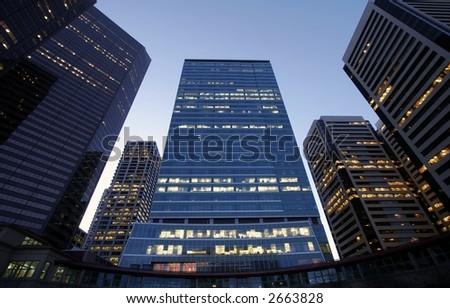 Business & Finance Center - stock photo