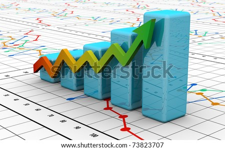 business finance chart, diagram, bar, graphic - stock photo