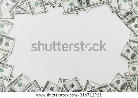 business, finance, investment, saving and corruption concept - close up of dollar money on table - stock photo