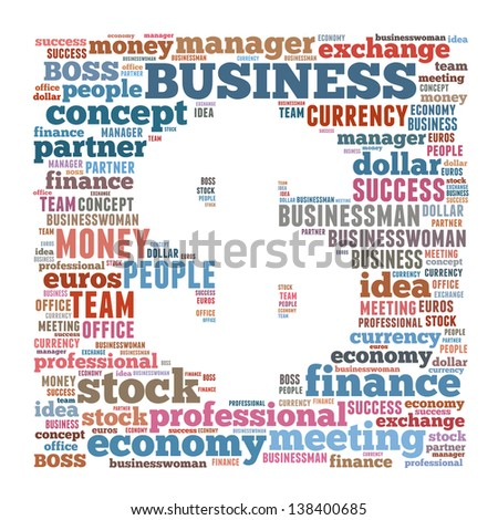 Business & finance related word cloud dollar symbol