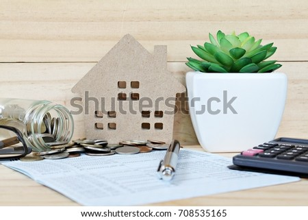Business Finance Savings Mortgage Concept Savings Stock Photo