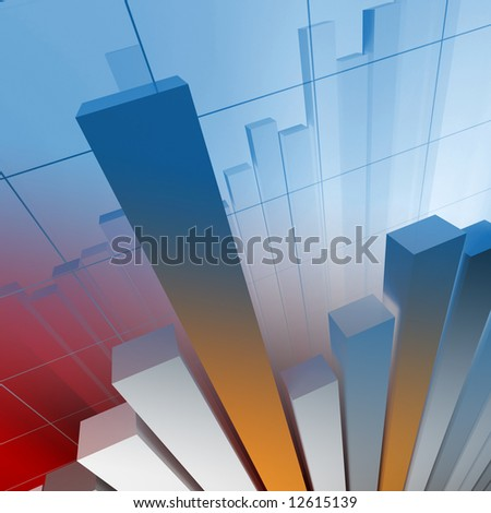 business financial chart - stock photo