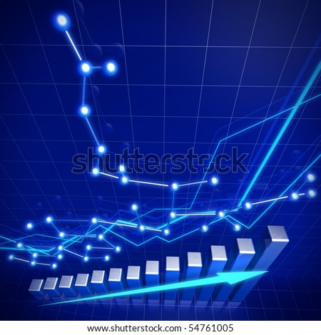 Business financial growth and network concept illustration - stock photo