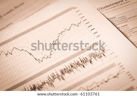 Business  financial reports. A workplace of the businessman. - stock photo