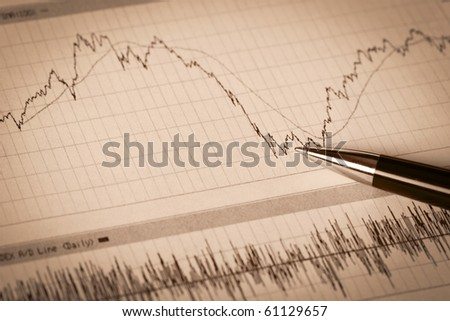 Business  financial reports. A workplace of the businessman - stock photo