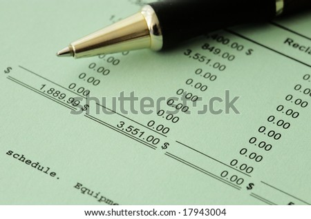 Business financial results - Calculating budget - stock photo