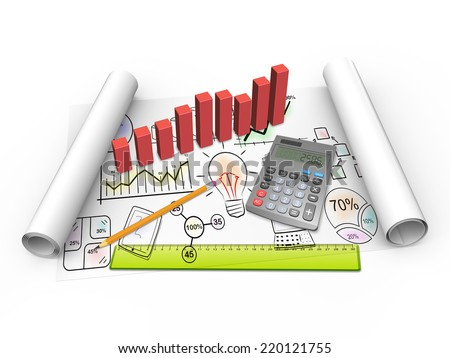 Business flow charts as concept - stock photo