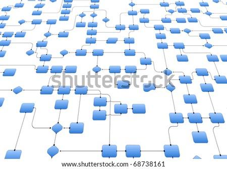 Business flowchart - stock photo