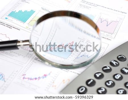 Business focus - stock photo