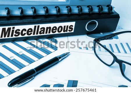 business folder with label miscellaneous - stock photo