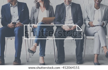 Business Formal People Frame Graphic Concept - stock photo