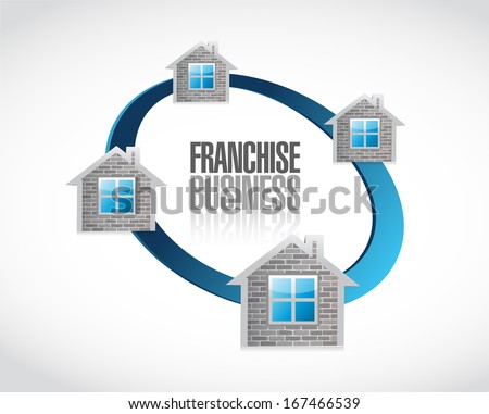 business franchise concept illustration design over a white background - stock photo