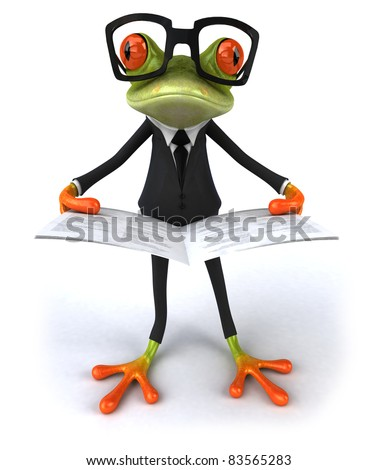 Business frog - stock photo