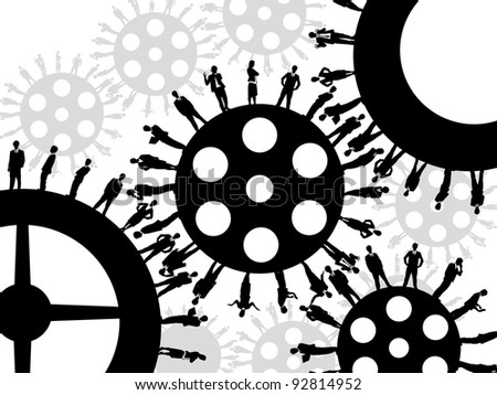 Business Gear wheel - stock photo
