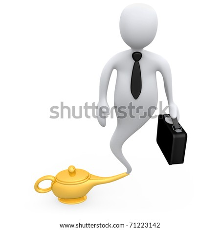 Business Genie - stock photo