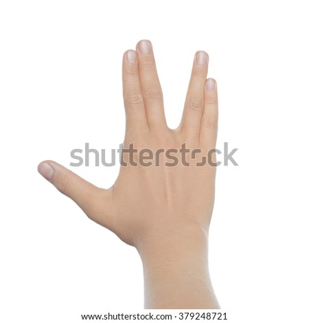 Business gesture on a white background