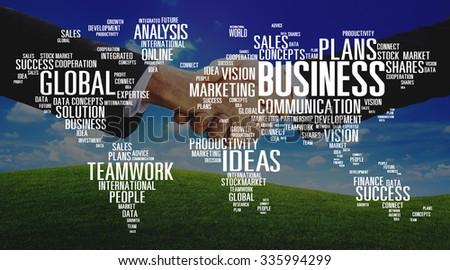 Business Global Teamwork Ideas Success Marketing Analysis Concept - stock photo