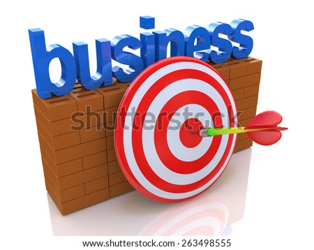 Business goal  - stock photo
