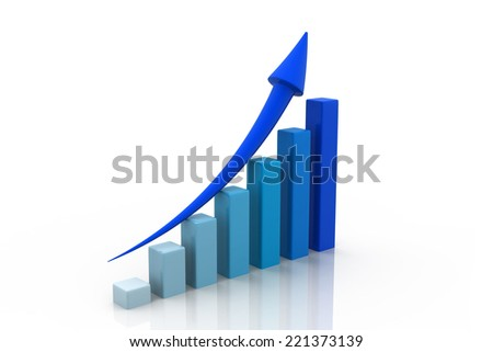 Business graph	 - stock photo