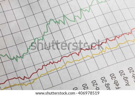 Business graph and chart, concept of growth - stock photo