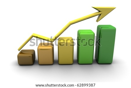 business graph, chart, diagram, bar, graphic - stock photo