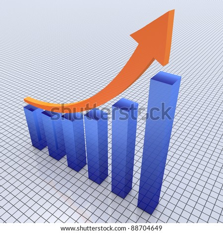 Business graph chart growth - stock photo