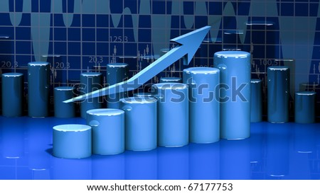 business graph, diagram, chart, bar - stock photo