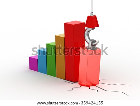 Business graph in growing trend   - stock photo