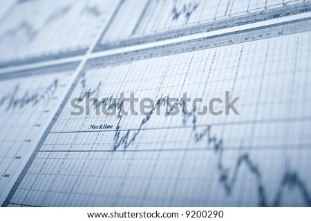 business graph. neckline - stock photo